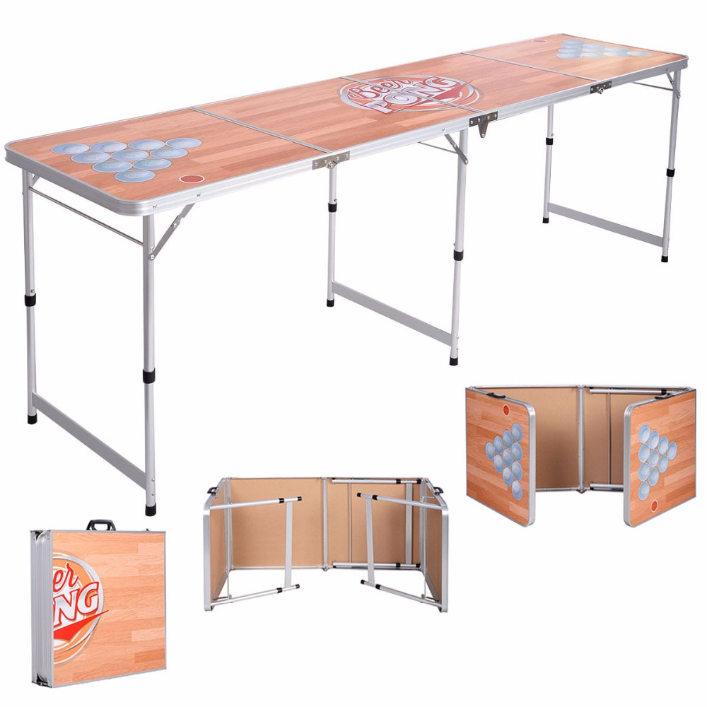 Foldable Aluminum 8 Folding Beer Pong Table Portable Outdoor Indoor Game Party Free Shipping OP2809<br><br>Aliexpress