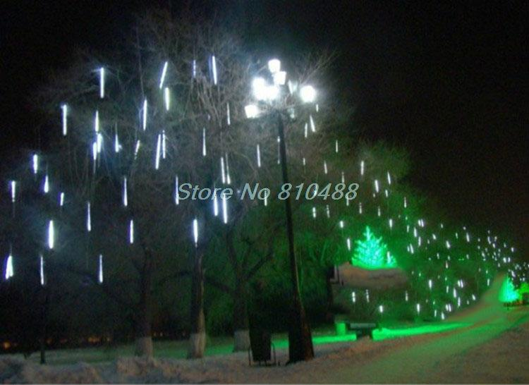Meteor Shower Falling Star/Rain Drop/Icicle Snow Fall LED Xmas Tree String Light 600mm RGB fairy light 85(China (Mainland))