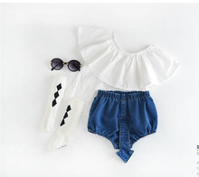 YWAB2788325 Retail 2016 New Summer Baby Girl Shorts Denim Fashion Newborn Baby Girl Pants Lolita Girl Clothes lOLITA(China (Mainland))