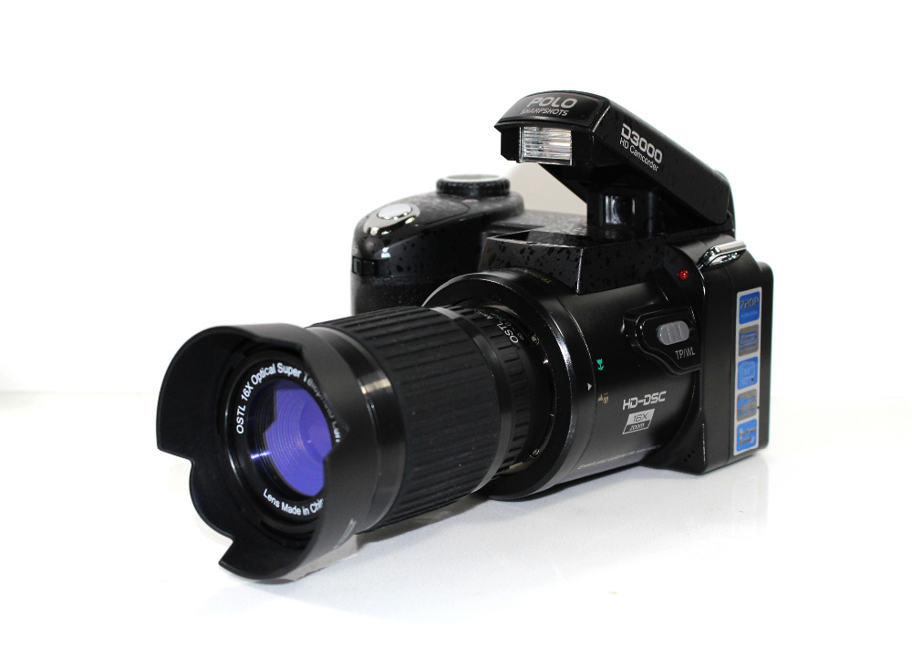Professional Protax POLO SLR D3000 16M Mega Pixels HD Digital Camera with Interchangeable Lens(China (Mainland))