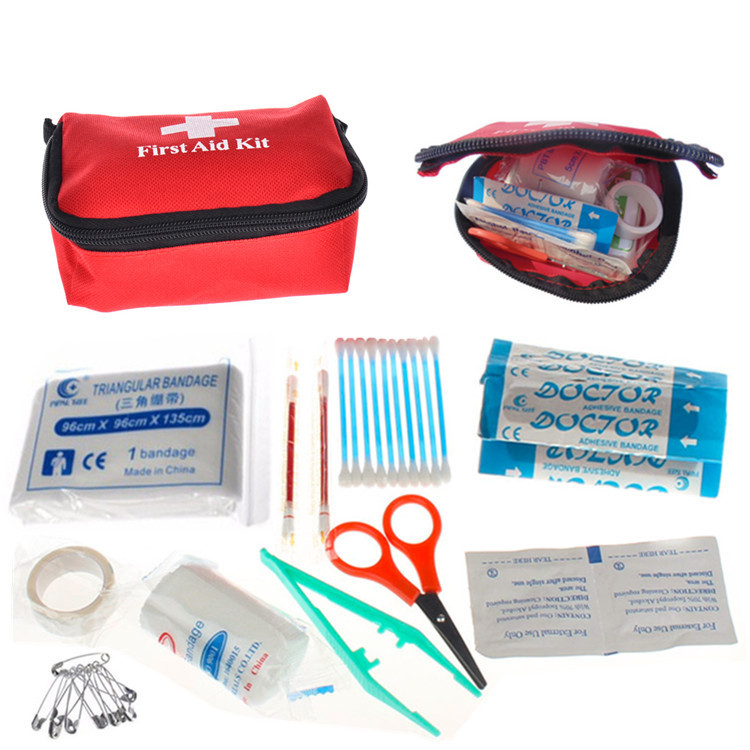 (11PCS) First Aid Medical Mini Bag With Kit Bandages Tourniquet Medicine Chest Bolso Medico(China (Mainland))