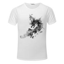Мужская футболка модная новая абстрактная 3D картина маслом Мужская рубашка короткий рукав o-образным вырезом Топы Футболки Повседневная му...(China)