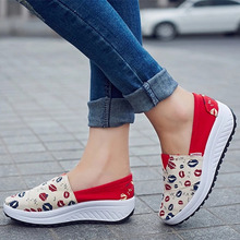 2015 Summer new canvas flat shoes a pedal sets foot lazy thick crust muffin casual shoes fashion women loafers #B