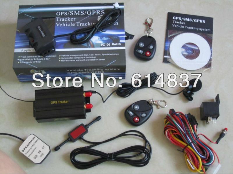 2013 TK103B GPS tracker + 2 remotes+ Shock Sensor SD card Slot Support 18 kinds of Languages Car Alarm Quadband Cut off Fuel(China (Mainland))