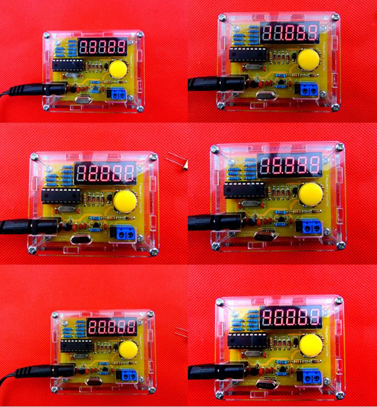 DIY suíte de produção de medidor de freqüência de vibração Cristal de freqüência de medição de medição em massa com a Shell, sinal para 30 V(China (Mainland))