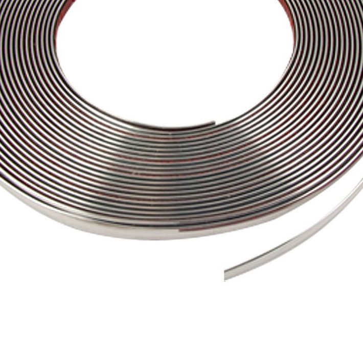 8mm x 15M Silver Tone Soft Chrome Moulding Trim Strip Car Decors GIFT,Free Shipping(China (Mainland))