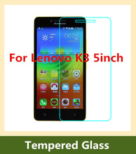9H 2.5D arc edge Explosion-proof LCD Front Tempered Glass Film for Lenovo K3 /Lenovo A6000 5 inch anti-sratch Screen Protector