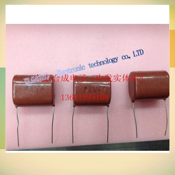 Metal film capacitive sensing CBB630V225K630V2.2UF pitch 28 mm 10 capacitor film begins free shipping(China (Mainland))