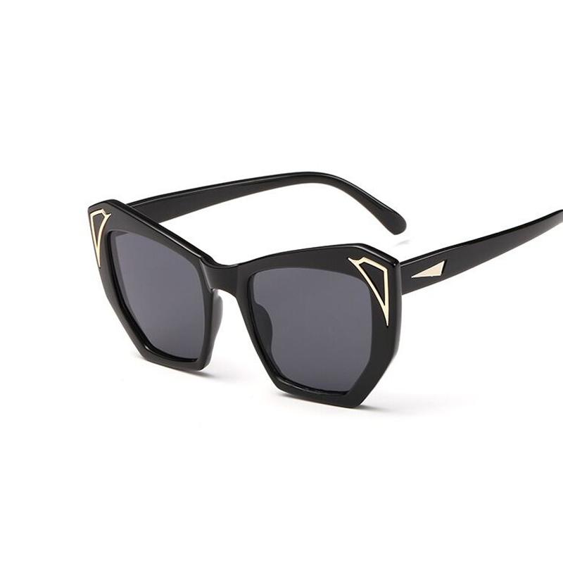 Vintage Large Frame Glasses : 2016 New Sunglasses for Women Large Frame Color Film ...