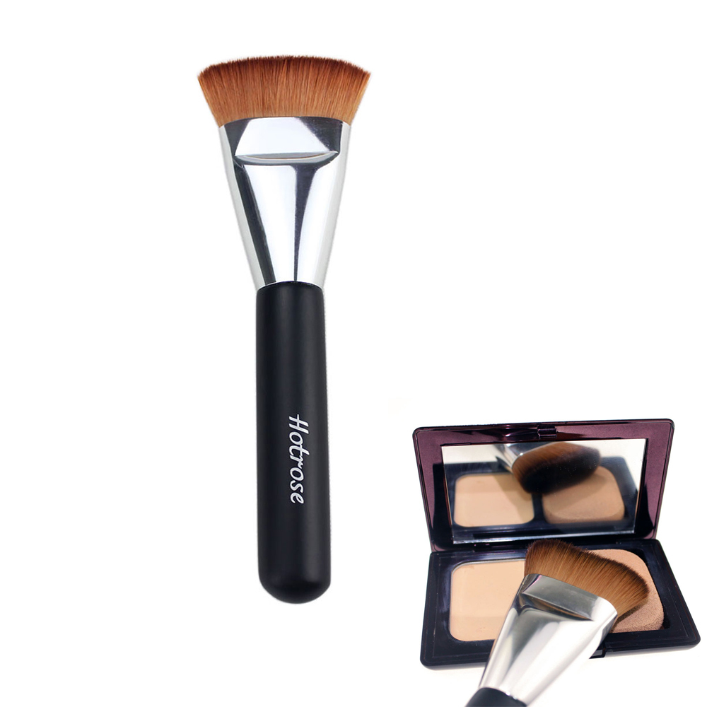 *US Ship* 1PCS Hotrose Professional Cosmetic Brush Big Face Contour Brush Excellent Round Foundation Brush, High Quality Brush(China (Mainland))