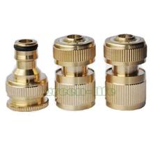 Garden Water Connectors hose basic 1/2 brass hose connector waterstop connector 1/2&3/4 brass tap adaptor(China (Mainland))