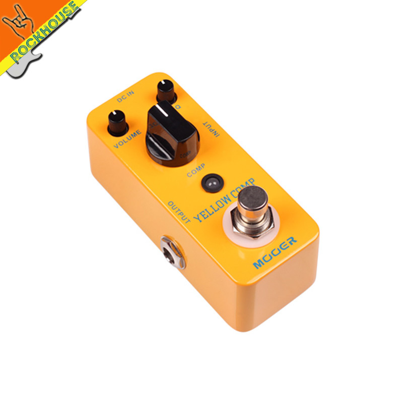 MOOER Yellow Compressor effects compress guitar Effect Pedal preserves the original signal transients perfectly free shipping(China (Mainland))