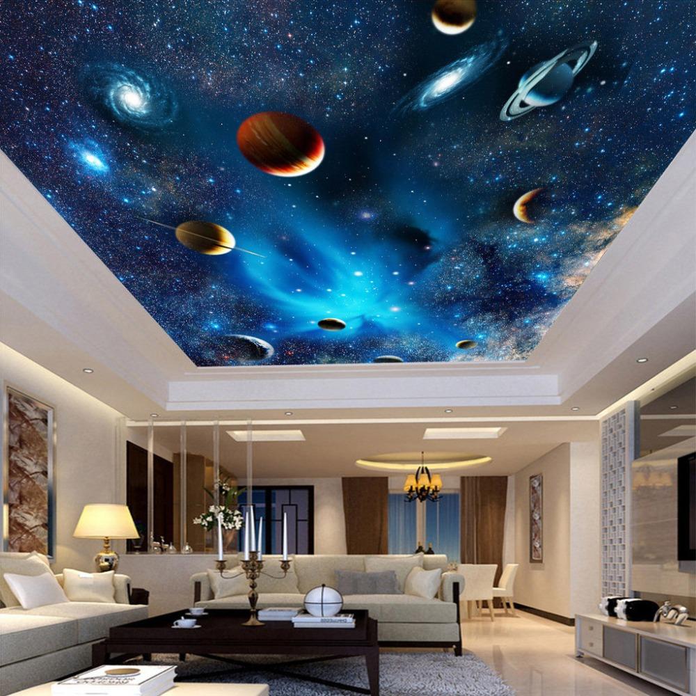 Decke Tapete Sternenhimmel : Decke Dekorative Tapete vlies Stoff Universum Planeten Sternenhimmel