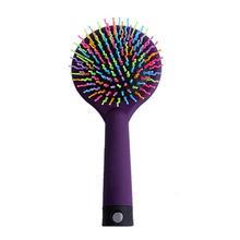 FX66 Rainbow Brush Hair Combs Airbag Anti Static Tangle Hairdressing Mirror(China (Mainland))