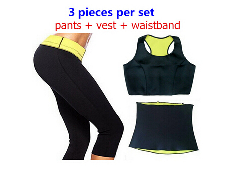 2015 HOT Selling Super stretch neoprene Shapers Sports pants set Women's Slimming Sets (Pants + vest waistband ) - rockabilly dress costume clothes mfg store
