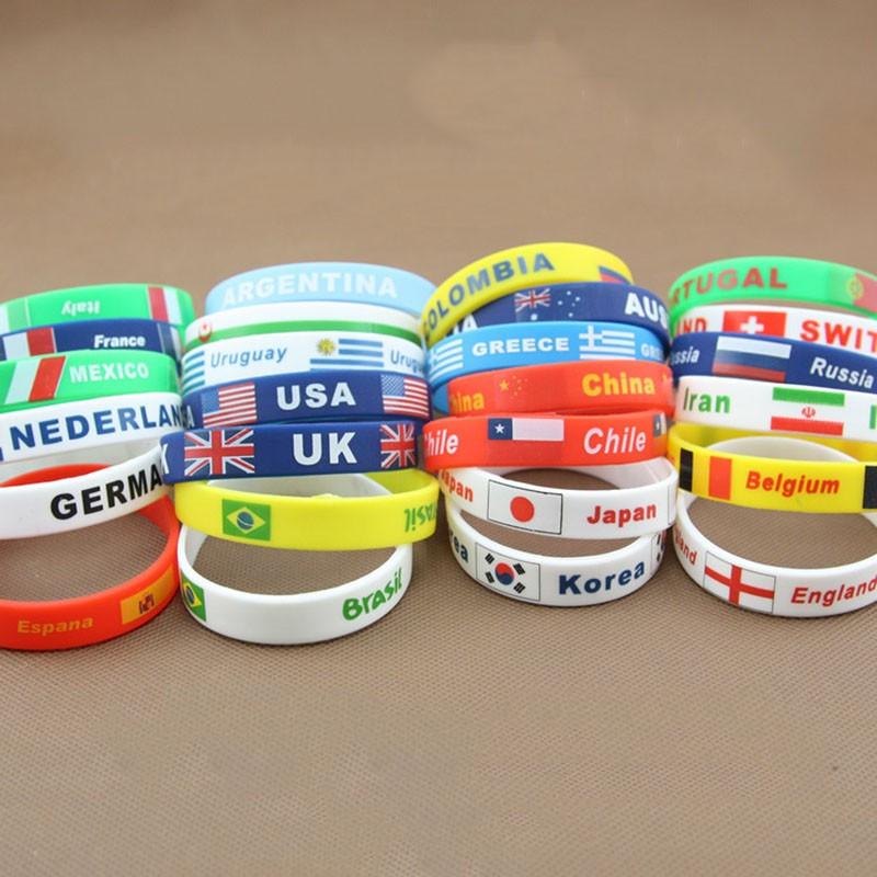 Event Party Supplies World European Cup 2016 Rio Olympic Games Fan Decoration White Silica Gel Bracelet(China (Mainland))