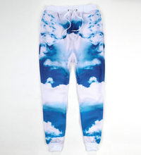 New jogging pants blue sky white clouds diamond print 3d sweatpants men/women emoji joggers pants plus size S-XXL Free shipping