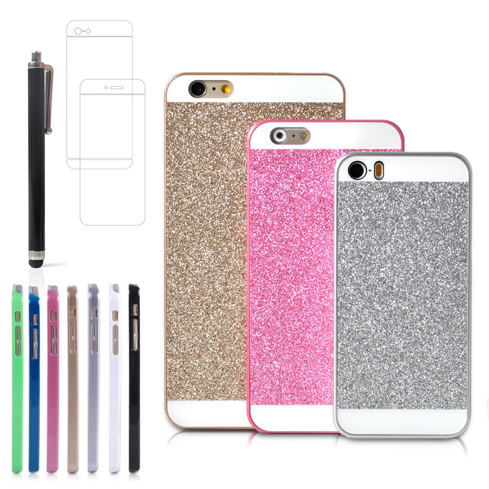 Cute Luxury Bling Glitter Hard Back Case Cover with all accessories for Apple iPhone 6 HEL0587A(China (Mainland))