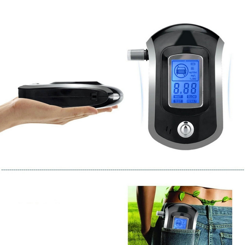 2016 Professional Mini Police Digital LCD Screen Breath Alkohol Alcohol Tester Breathalyzer AT6000 Bafometro Alcoholimetro hot(China (Mainland))