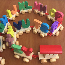 Дерево алфавит поезд письма малыш младенцы образовательный игрушки младенцы игрушки томас алфавит дерево номер поезд