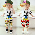 2016 new baby boys and girls summer clothes for the baby cute cartoon printed Mickey shirt