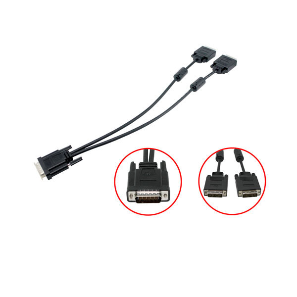 ORIGINAL/Genuine EVGA HD01/HD02 CABLE DMS-59 (M) to Dual DVI (M) Adapter Cable(China (Mainland))