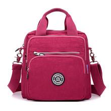 Buy Women Messenger Bag Ladies Crossbody Bags Handbag Waterproof Nylon Zipper Pocket Solid Shoulder Bags Lady Tote for $13.40 in AliExpress store