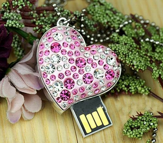 S-38 Wholesale necklace jewellery 8GB 16GB 32GB 64GB 128GB 256GB USB Lock Crystal Flash Memory Drive Stick ispread free shipping(China (Mainland))