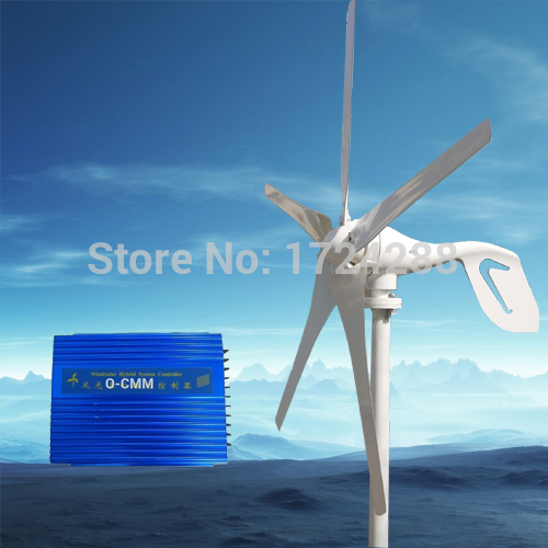 wind power turbine 600W max,5 blade,wind generator 12V/24V with RoHS CE Certification ,+1000W max Wind solar hybrid Controller(China (Mainland))