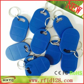 100PCS/Lot  ISO14443A 13.56MHz RIFD Smart IC KeyFobs /Tags/keychain Card With 1K Bytes Memory For Access Control  Free Shipping