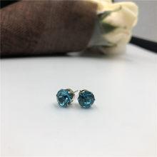 14 farben Mode Schmuck Luxus Österreichischen Kristall Für Frauen Heißer Verkauf Silber Farbe Ohr Schmuck Besten Freunde Geschenk freies verschiffen(China)