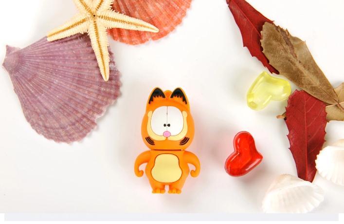 100% real capacity Cartoon Garfield Cat USB Flash Drive, Pen Drive USB 2.0 Flash Disk 4GB 8GB 16GB 32GB USBS238 A2(China (Mainland))