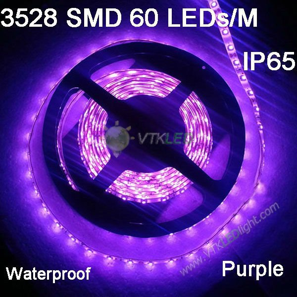 3528 300 5M Purple LED strip SMD flexible light, led 12v 60led/m outdoor waterproof Ribbon,12 volt led light<br><br>Aliexpress