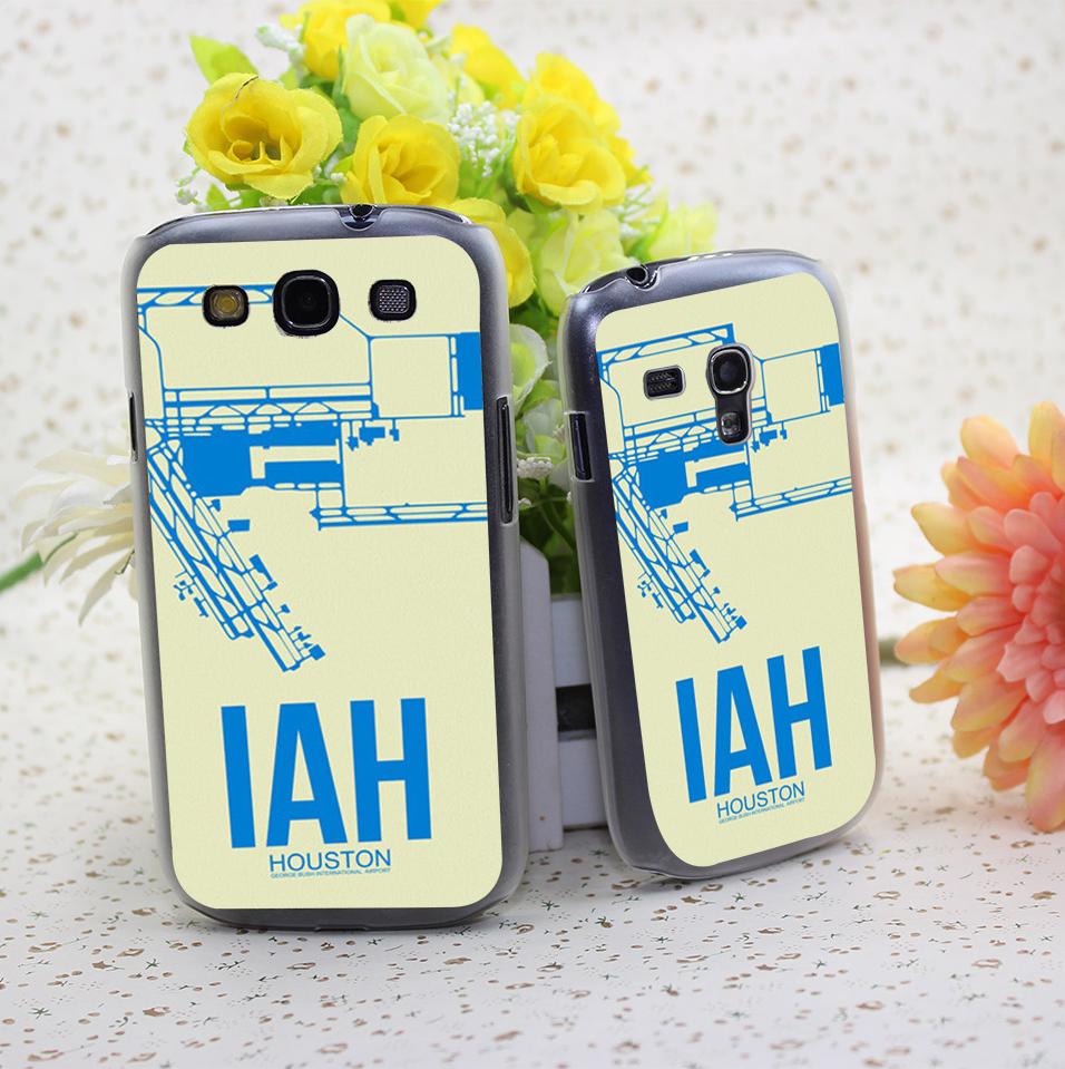 Iah Houston Poster Hard Transparent Cover Case for Samsung Galaxy S3 S3 Mini S4 S4 Mini S5 Mini S6 S6 edge(China (Mainland))