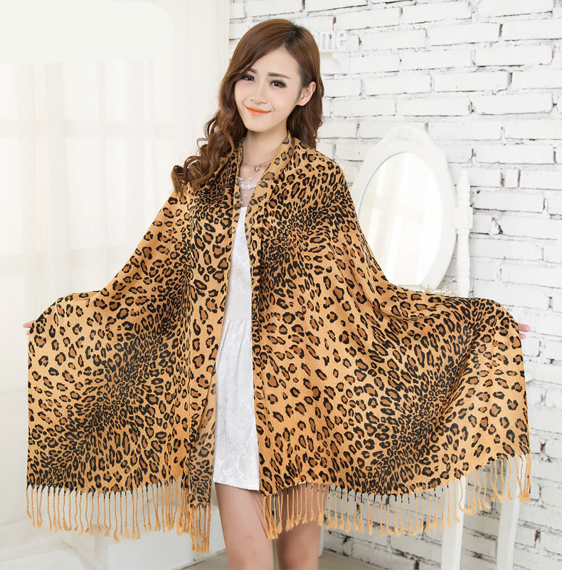 2016 Brand Cotton cashmere Scarf Leopard Print Super Star Style Leopard Shawl Brand Designer Scarves and Stoles Scarf blanket(China (Mainland))