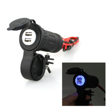 Waterproof Car charger USB adapter Motorcycle Cigarette Lighter USB Phone Charger DC12-24V 4.2A(China (Mainland))