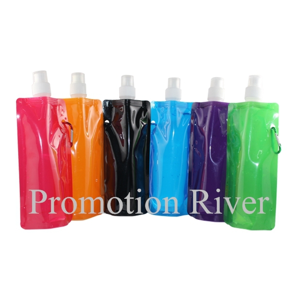 2015 Hot Selling 480ml/160z reusable water bottle eco-friendly logo custom collapsible foldable water bottle personalized(China (Mainland))