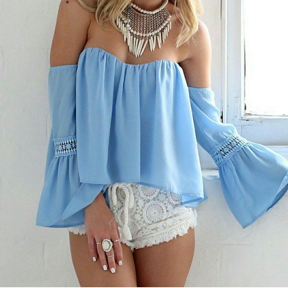 Short Sleeve Chambray Shirt Women