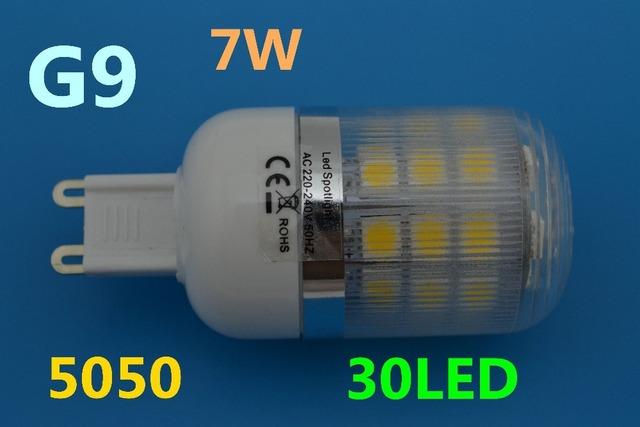 G9 220V 7W Cold white / Warm White 360 Degree 5050 SMD 30Led Light Bulb Lamp Energy Saving