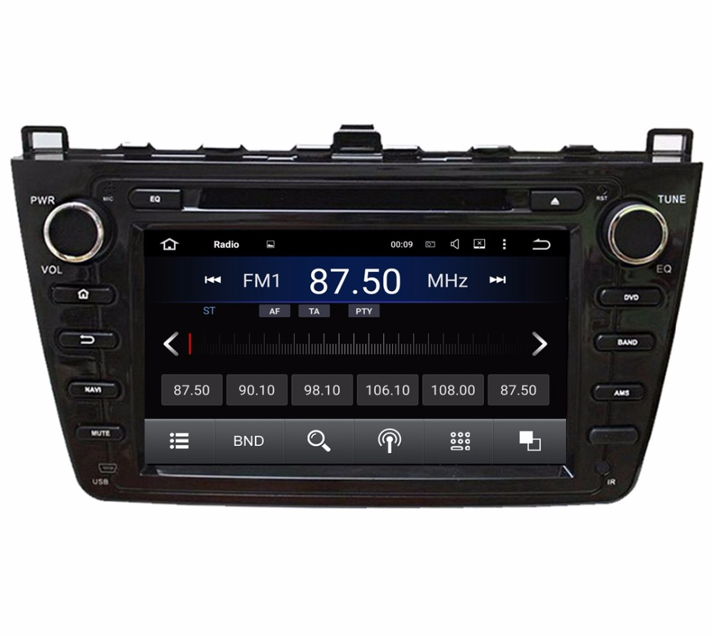 "Quad Core 2 din 8"" Android 5.1 Car Radio DVD GPS for MAZDA 6 2008-2012 With Bose system 3G WIFI Bluetooth IPOD TV USB AUX IN DVR(China (Mainland))"