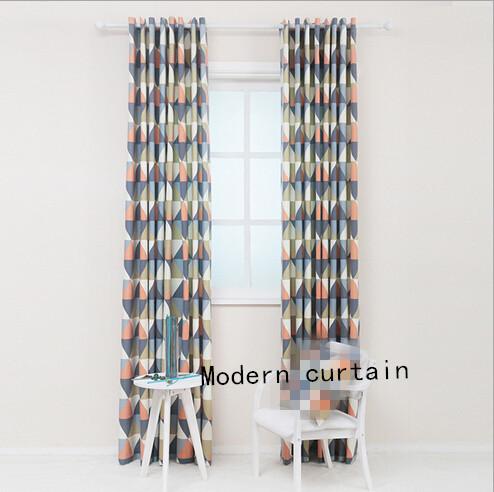 simple mode motif g om trique rideaux du salon est la. Black Bedroom Furniture Sets. Home Design Ideas