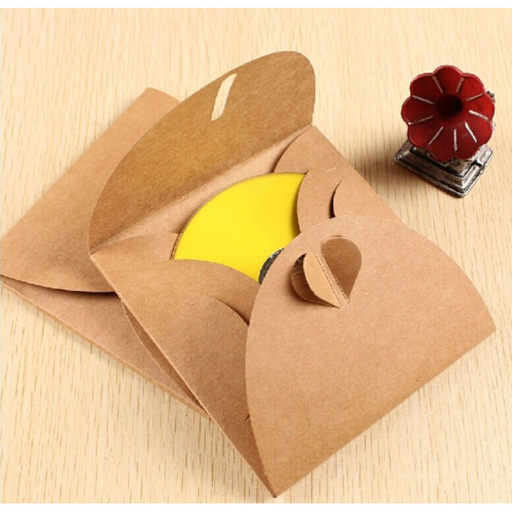 Kraft Paper CD Sleeve CD DVD Package Box Cases DVD Pack Cover Holder Party Boxes Envelopes For Baby Shower(China (Mainland))