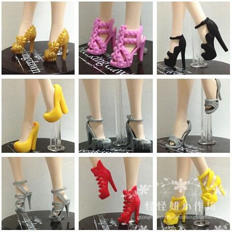 Free Transport,100pairs Sneakers for barbie doll, Doll Equipment For Barbie Doll, excessive heels for barbie wholesale doll footwear