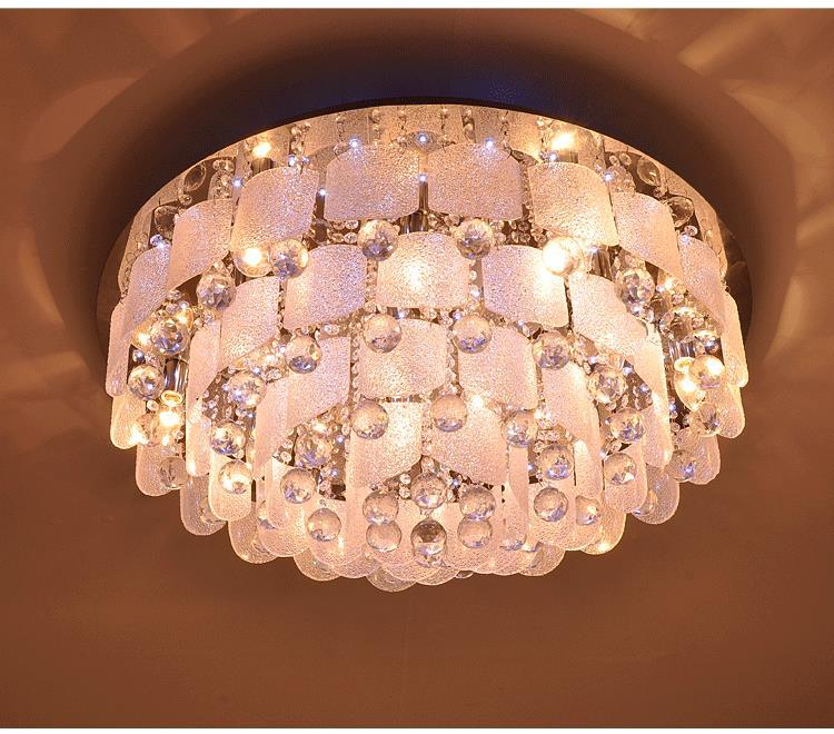 Free shipping Crystal led ceiling light K9 round living light bedroom ceiling light with remote coutrol(China (Mainland))