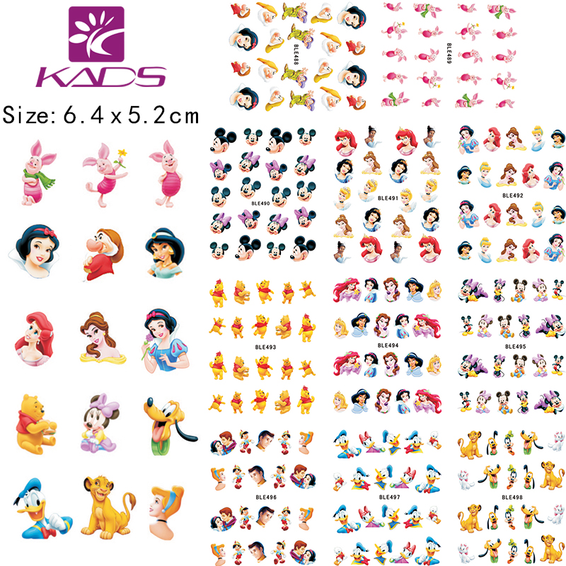 KADS LARGE 1set (11 Sheet IN 1).Water decal Nail Stickers Cartoon design nail sticker For nail accessories(China (Mainland))