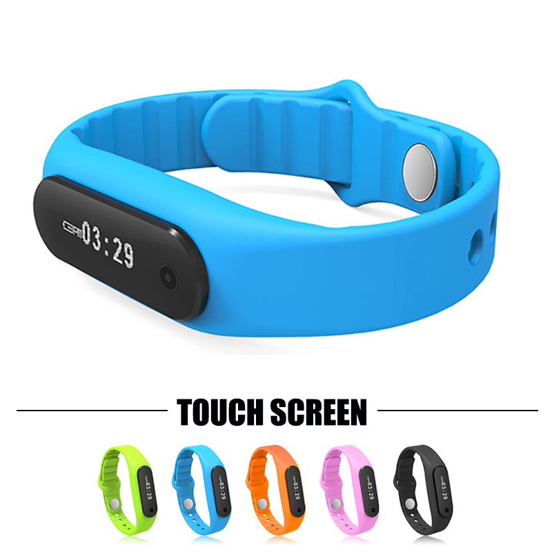 100 Original Touch Screen Smart Bracelet Fitness Tracker Wristband Smartband Pedometer Bluetooth 4 0 For Android