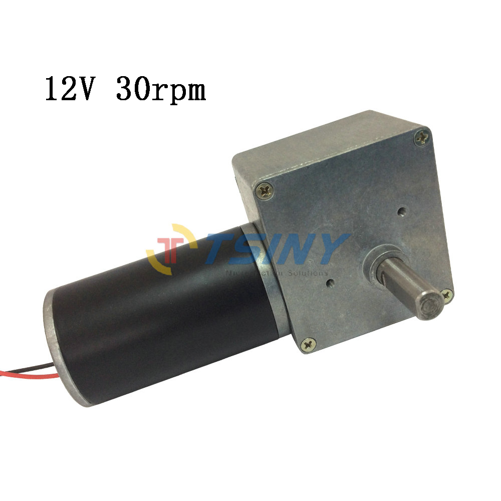 High torque 12 volt worm right angle gear motor with gear for Right angle dc motor
