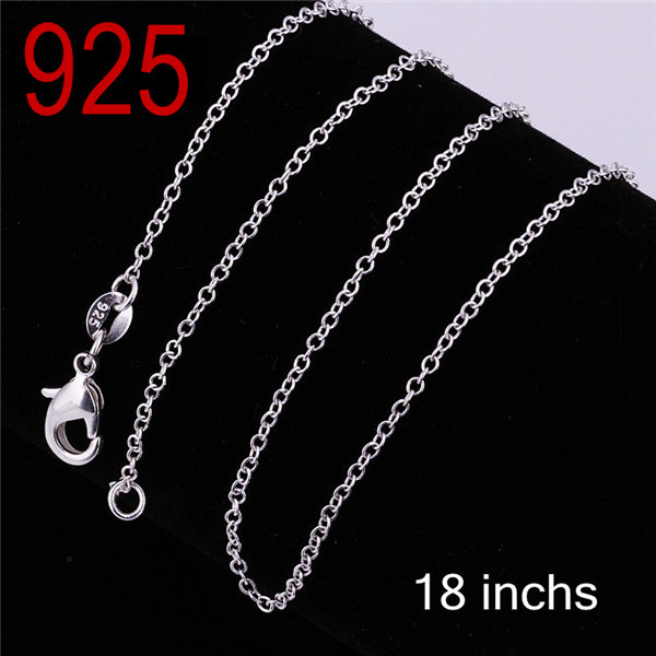 2014 new Factory Wholesale cheap promotion Fashion 925 sterling silver gold 2 colors cupper alloy O chain Necklace jewelry c001(China (Mainland))