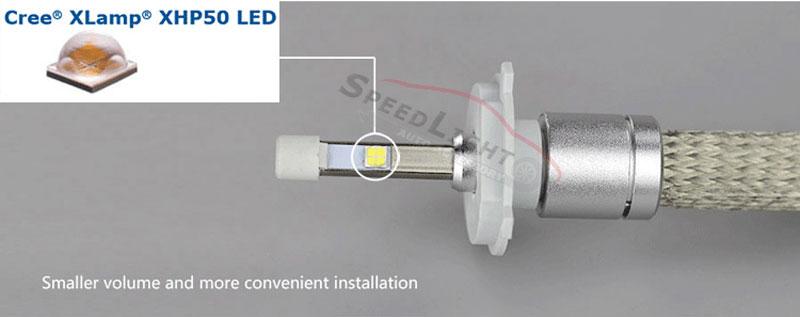 1 Set 80W CREE R3 LED Headlight 40W 4800LM H1 H3 H4 H7 H8 H9 H11 9005 9006 9012 9004 9007 H13 Car LED Headlight Bulb
