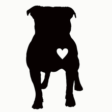Wholesale 50 pcs/lot Cute Pitbull Heart Puppy Car Sticker For Truck Window Bumper Auto Door Laptop Kayak Vinyl Decal 9 Colors